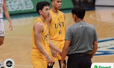 Tiebreaker Times Renzo Subido on 'butt-pinching' incident with Dave Ildefonso: 'Mind games lang' Basketball News UAAP UST  UST Men's Basketball UAAP Season 82 Men's Basketball UAAP Season 82 Renzo Subido