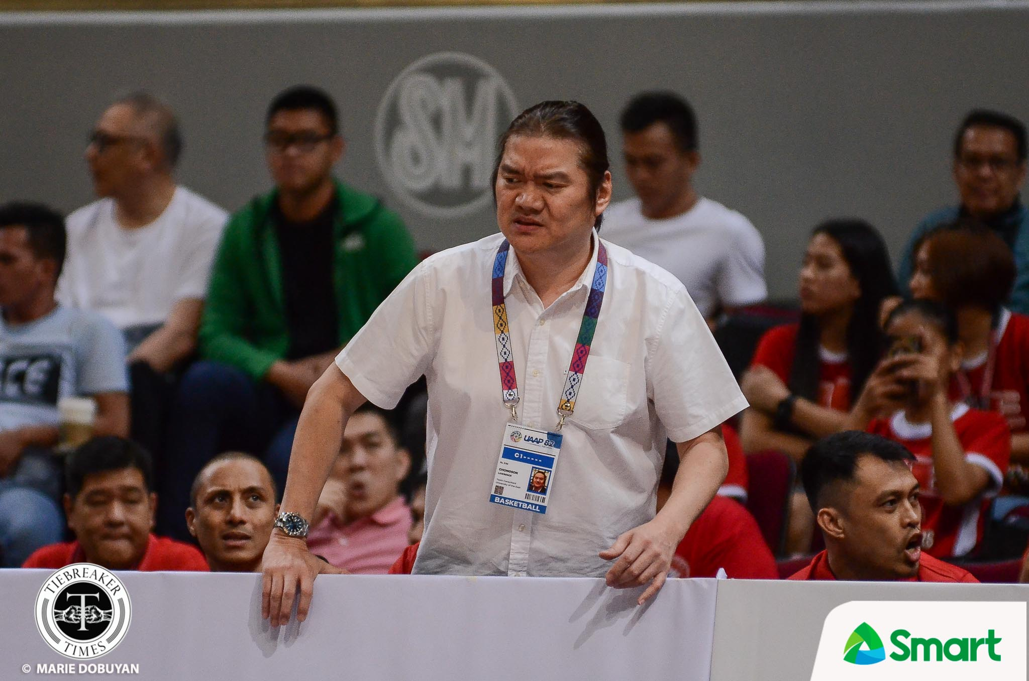Tiebreaker Times Chongson says throat gesture not for La Salle: 'It's slaying the ghost' Basketball News UAAP UE  UE Men's Basketball UAAP Season 82 Men's Basketball UAAP Season 82 Mikee Reyes Lawrence Chongson
