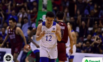 Tiebreaker Times Matt Nieto keeps Ateneo's emotion in check during Battle of Katipunan ADMU Basketball News UAAP  UAAP Season 82 Men's Basketball UAAP Season 82 Matt Nieto Ateneo Men's Basketball