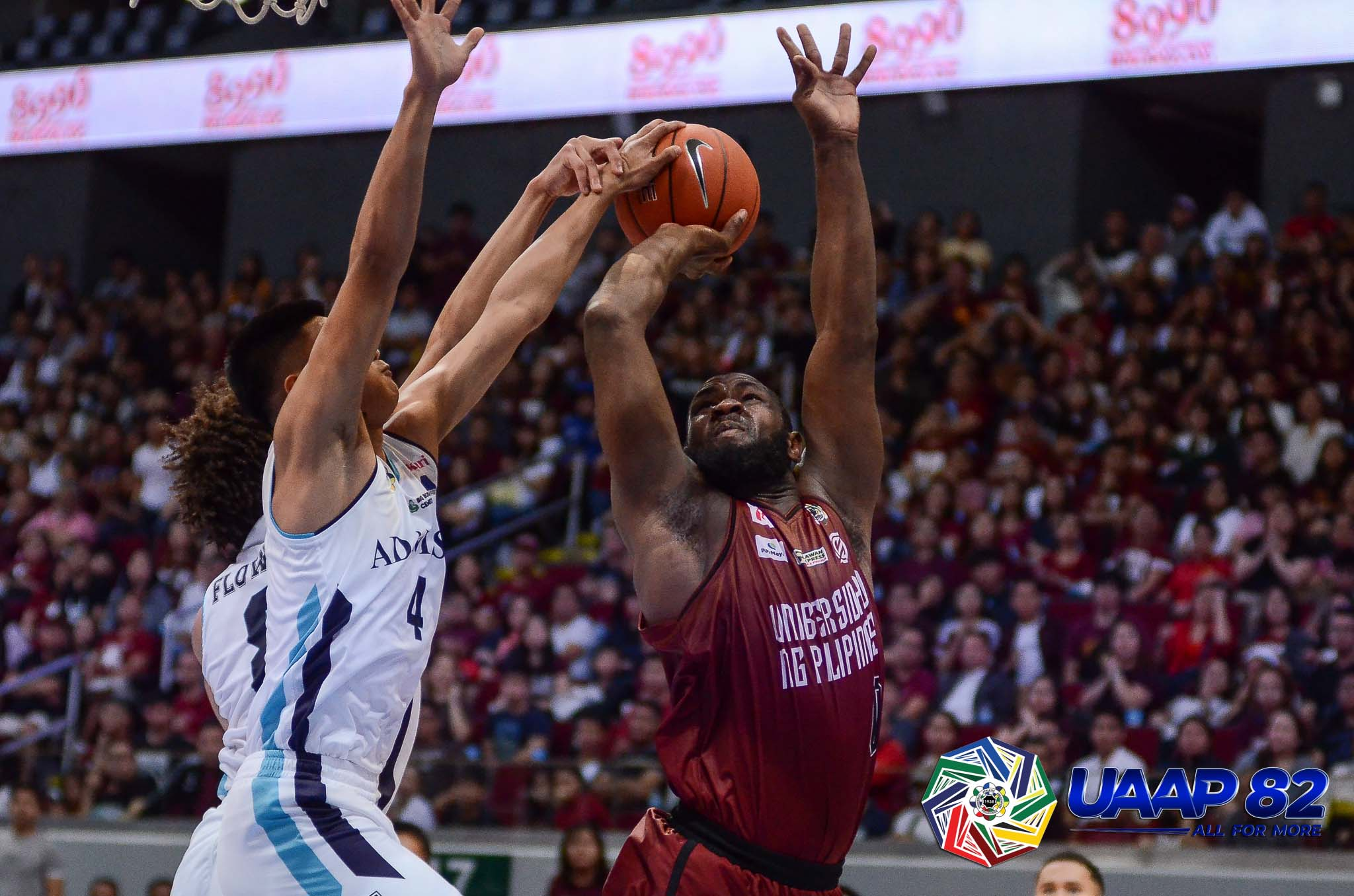 Tiebreaker Times Akhuetie saves the day as UP snatches OT win vs Adamson AdU Basketball News UAAP UP  Valandre Chauca UP Men's Basketball UAAP Season 82 Men's Basketball UAAP Season 82 Lenda Douanga Kobe Paras Juan Gomez De Liano Jerom Lastimosa Franz Pumaren Bright Akhuetie Bo Perasol AP Manlapaz Adamson Men's Basketball