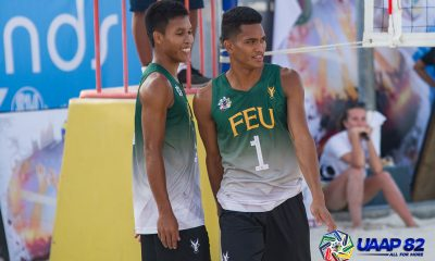 Tiebreaker Times FEU's Garcia, Hadlocon look to put Season 81 loss behind with championship Beach Volleyball FEU News UAAP  UAAP Season 82 Men's Beach Volleyball UAAP Season 82 Kevin Hadlocon Jude Garcia FEU Men's Volleyball
