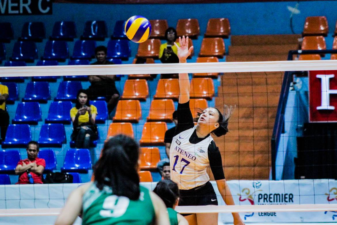 Tiebreaker Times Rookie Faith Nisperos embraces main hitter role ADMU News PVL Volleyball  Faith Nisperos Ateneo Women's Volleyball 2019 PVL Season 2019 PVL Collegiate Conference
