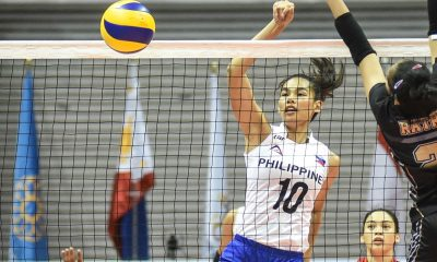 Tiebreaker Times Majoy Baron, Dawn Macandili attribute individual plums to Ramil De Jesus News Volleyball  Ramil De Jesus Philippine Women's National Volleyball Team Majoy Baron Dawn Macandili 2019 SEA Grand Prix