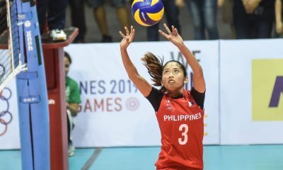 Tiebreaker Times Jasmine Nabor to join PWNVT training camp in Japan 2019 SEA Games News Volleyball  Shaq delos Santos Philippine Women's National Volleyball Team Jasmine Nabor 2019 SEA Games - Volleyball 2019 SEA Games