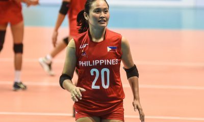 Tiebreaker Times Grethcel Soltones provides silver lining for PWNVT News Volleyball  Philippine Women's National Volleyball Team Grethcel Soltones 2019 SEA Grand Prix