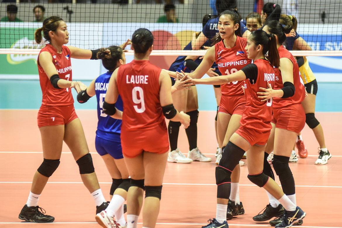 Tiebreaker Times Undermanned Philippines suffers beatdown at Thailand's hands News Volleyball  Thailand (Volleyball) Shaq delos Santos Pimpichaya Kokram Philippine Women's National Volleyball Team Onuma Sittirak Mylene Paat Majoy Baron Kath Arado Jasmine Nabor Grethcel Soltones Dawn Macandili Ces Molina 2019 SEA Grand Prix