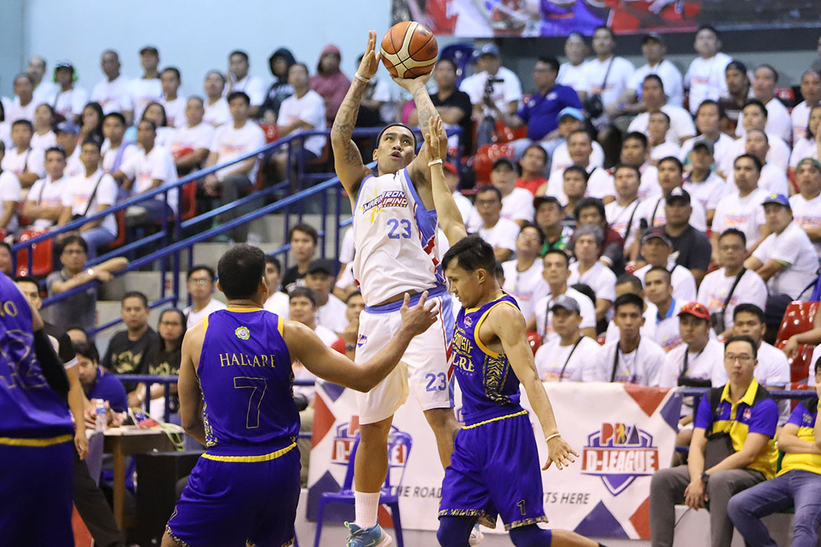 Tiebreaker Times Marinerong Pilipino weathers late St. Clare rally to take Game One Basketball News PBA D-League  Yong Garcia William McAloney rev deputado Mohammed Pare Marinerong Pilipino Jinino Manansala Jhaps Bautista Eloy Poligrates BRT Sumisip-St. Clare Saints 2019 PBA D-League Foundation Cup