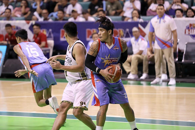 Tiebreaker Times Poligrates hardly celebrates MVP as Marinerong Pilipino fails to sweep Basketball News PBA D-League  Marinerong Pilipino Eloy Poligrates 2019 PBA D-League Foundation Cup