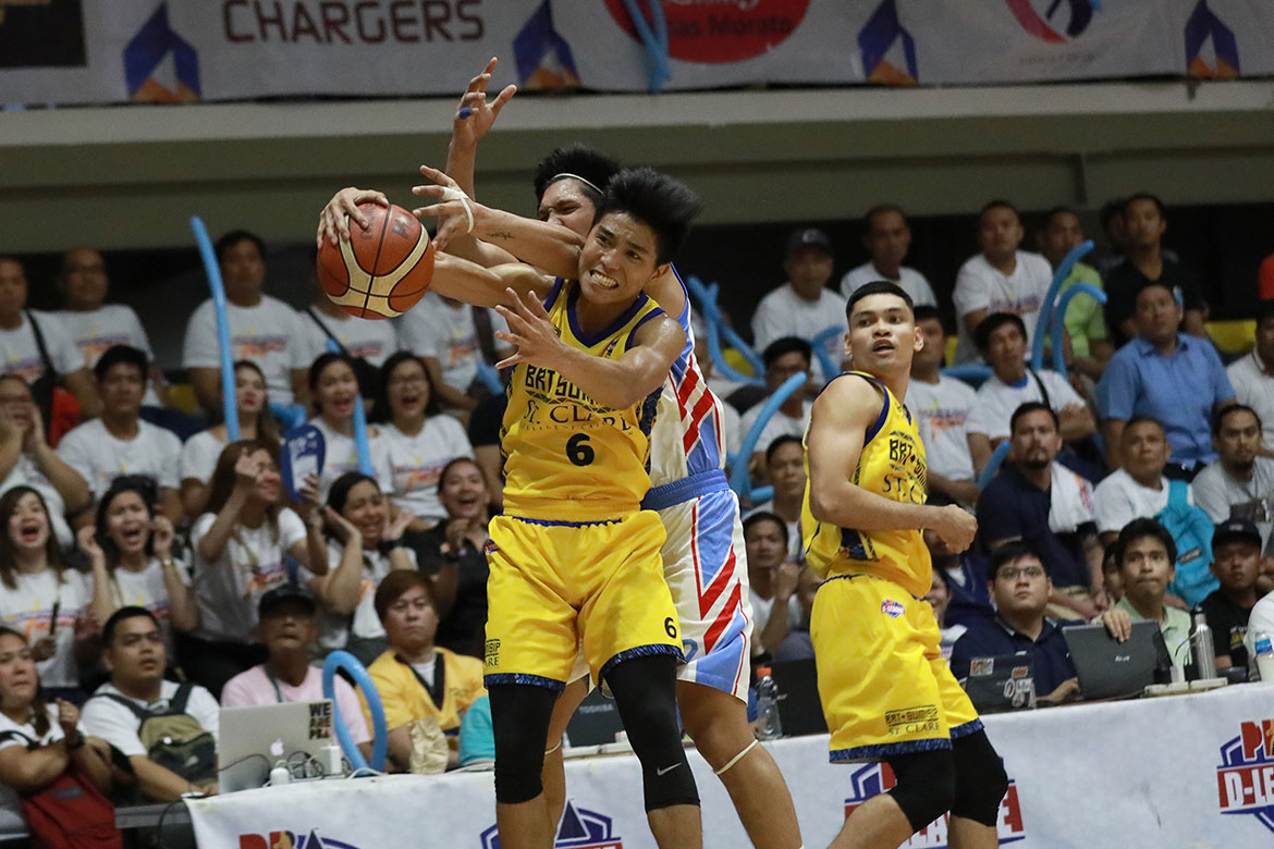 Tiebreaker Times Joshua Fontanilla out to give one more crown to St. Clare Basketball News PBA D-League  Saint Clare College of Caloocan Saints Joshua Fontanilla BRT Sumisip-St. Clare Saints 2019 PBA D-League Foundation Cup 2019 NAASCU Season