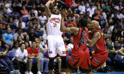 Tiebreaker Times Ginebra snaps skid, deals San Miguel first loss Basketball News PBA  Tim Cone San Miguel Beermen PBA Season 44 Leo Austria Justin Brownlee Barangay Ginebra San Miguel 2019 PBA Governors Cup