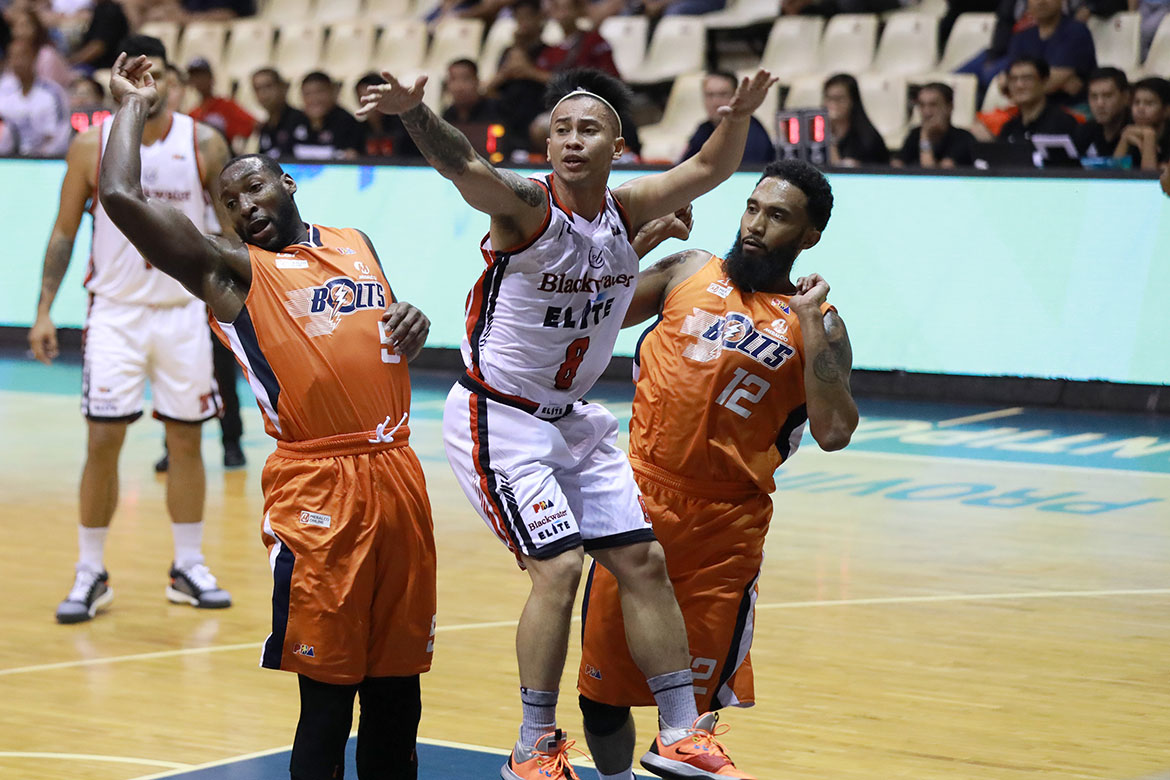 Tiebreaker Times Recovering KG Canaleta glad to give Meralco timely boost Basketball News PBA  PBA Season 44 Norman Black Meralco Bolts KG Canaleta 2019 PBA Governors Cup