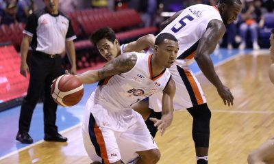 Tiebreaker Times Chris Newsome grateful to teammates after finally making elusive triple-double Basketball News PBA  PBA Season 44 Meralco Bolts Chris Newsome 2019 PBA Governors Cup