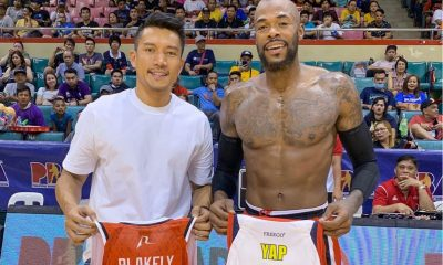 Tiebreaker Times Marqus Blakely continues jersey-exchange tour, adds James Yap's Basketball News PBA  Rain or Shine Elasto Painters Purefoods PBA Season 44 Marqus Blakely James Yap Blackwater Elite 2019 PBA Governors Cup