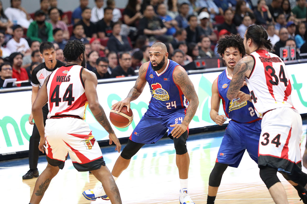 Tiebreaker Times Romeo Travis allays fears despite exiting in wheelchair Basketball News PBA  Romeo Travis PBA Season 44 Magnolia Hotshots 2019 PBA Governors Cup