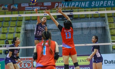 Tiebreaker Times Sisi Rondina picks Marinerang Pilipina apart as Petron remains perfect News PSL Volleyball  Shaq delos Santos Ron Dulay Petron Blaze Spikers Marinerang Pilipina Cherry Rondina Caitlyn Viray 2019 PSL Season 2019 PSL Invitational Cup