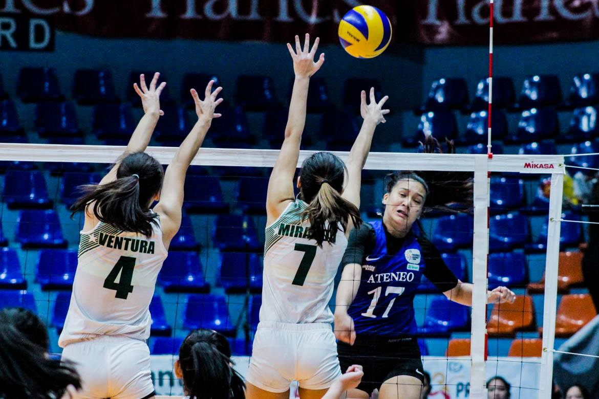 Tiebreaker Times Nisperos leads Ateneo Lady Eagles to PVL bronze News PVL Volleyball  Saint Benilde Women's Volleyball Ponggay Gaston Jules Samonte Joan Narit Jaja Maraguinot Gayle Pascual Faith Nisperos Dani Ravena Ateneo Women's Volleyball 2019 PVL Season 2019 PVL Collegiate Conference