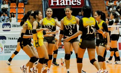 Tiebreaker Times Eya Laure ready to do double duty for PWNVT, UST News PVL UST Volleyball  UST Women's Volleyball Philippine Women's National Volleyball Team Eya Laure 2019 SEA Grand Prix 2019 PVL Season 2019 PVL Collegiate Conference
