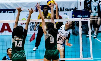 Tiebreaker Times Trisha Genesis powers Adamson past Benilde, books UST showdown AdU CSB News PVL Volleyball  Trisha Genesis Saint Benilde Women's Volleyball Lucille Almonte Louie Romero Lerma Giron Klarissa Abriam Jerry Yee Gayle Pascual Ceasa Pinar Adamson Women's Volleyball 2019 PVL Season 2019 PVL Collegiate Conference
