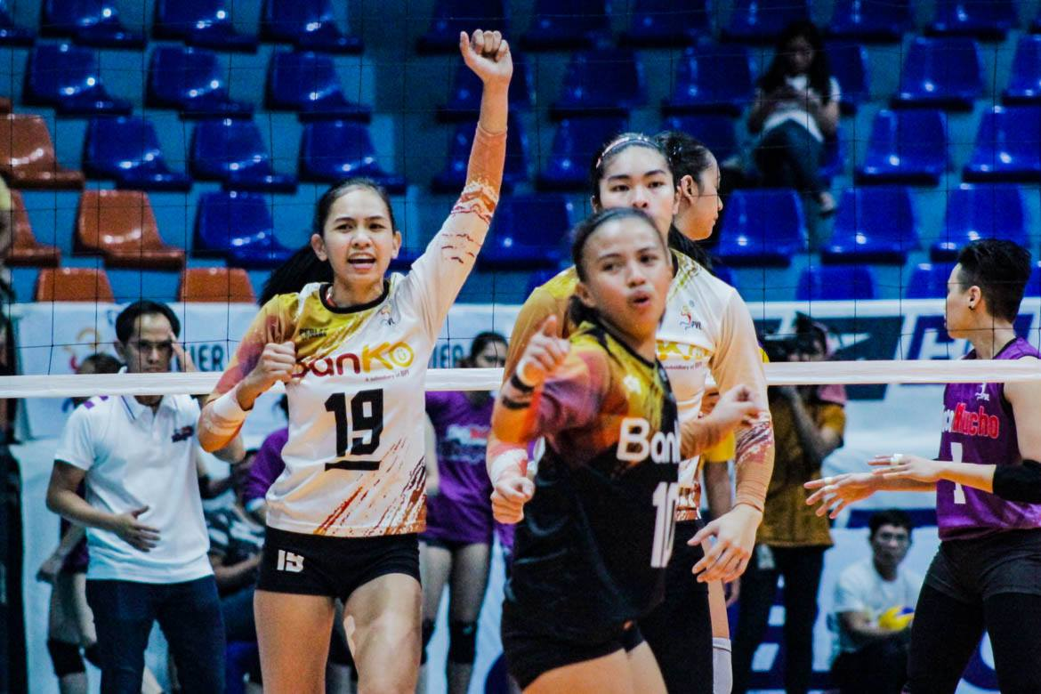 Tiebreaker Times Tiamzon delivers clutch blows as BanKo holds off Choco Mucho News PVL Volleyball  Sue Roces Oliver Almadro Nicole Tiamzon Kathy Bersola Kat Tolentino Jem Ferrer Dzi Gervacio Choco Mucho Flying Titans Bang Pineda Apichat Kongsaiwat Acy Masangkay 2019 PVL Season 2019 PVL Open Conference