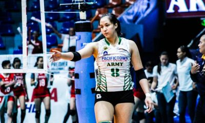 Tiebreaker Times Jovelyn Gonzaga on support her nephew received: 'Overflowing, overwhelming' News PVL Volleyball  Pacific Town-Army Lady Troopers Jovelyn Gonzaga 2019 PVL Season 2019 PVL Open Conference