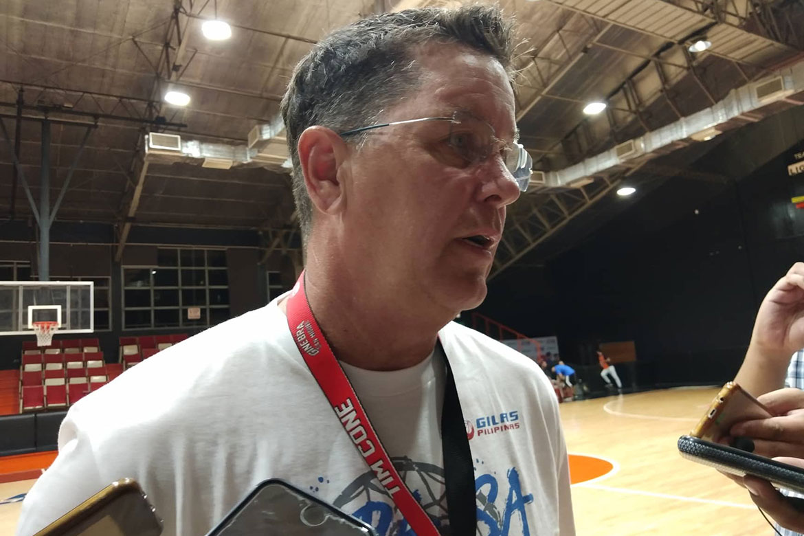 Tiebreaker Times Tim Cone pondering on cancelling this week's Gilas practice Basketball Gilas Pilipinas News PBA  Tim Cone PBA Season 44 Barangay Ginebra San Miguel 2019 PBA Governors Cup