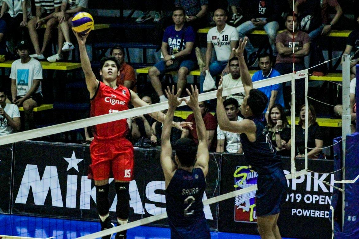 Tiebreaker Times Espejo shatters Spikers' Turf scoring mark, powers Cignal to Open Conference crown News Spikers' Turf Volleyball  Ysay Marasigan Vince Mangulabnan Rhovyl Verayo RanRan Abdilla Philippine Air Force Jet Spikers Manuel Sumanguid Francis Saura Fauzi Ismail Edmar Bonono Dexter Clamor Cignal HD Spikers 2019 Spikers Turf Season 2019 Spikers Turf Open Conference