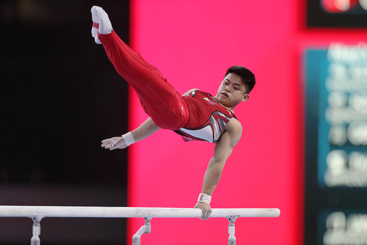 Tiebreaker Times Caloy Yulo's sacrifice all worth it after Olympic berth Gymnastics News  Cynthia Carrion Caloy Yulo 49th FIG Artistic Gymnastics World Championships