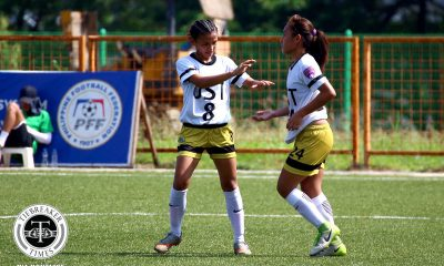 Tiebreaker Times UST, FEU close PFFWL first round with big wins Football News PFF Women's League  Vanessa Velasco UST Women's Football Tuloy FC Toni Panes Tigers FC Shelah Mae Cadag Mary Joy Indac Let Dimzon Kyla Rivera Kristine Joy Abo-abo Joyce Onrubia Jenny Perez Jamielyn Nañez Isabella Bandoja Hannah Faith Pachejo FEU Women's Football Cecile Deita Aging Rubio 2019 PFFWL Season