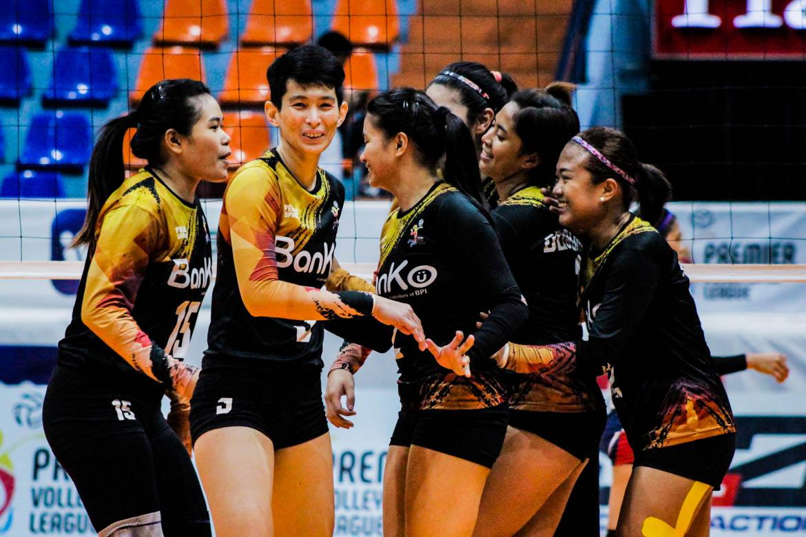 Tiebreaker Times BanKo punches ticket to semis, turns back PacificTown-Army in Bacolod News PVL Volleyball  Sue Roces Royse Tubino Perlas Lady Spikers Pacific Town-Army Lady Troopers Nicole Tiamzon Kungfu Reyes Jovelyn Gonzaga Jem Ferrer Dzi Gervacio Apichat Kongsaiwat 2019 PVL Season 2019 PVL Open Conference