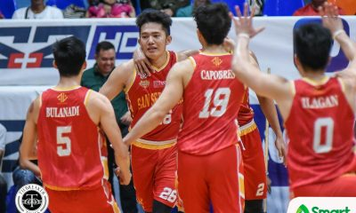 Tiebreaker Times Rommel Calahat made sure to finish what Bulanadi started Basketball NCAA News SSC-R  San Sebastian Seniors Basketball Rommel Calahat NCAA Season 95 Seniors Basketball NCAA Season 95 Allyn Bulanadi