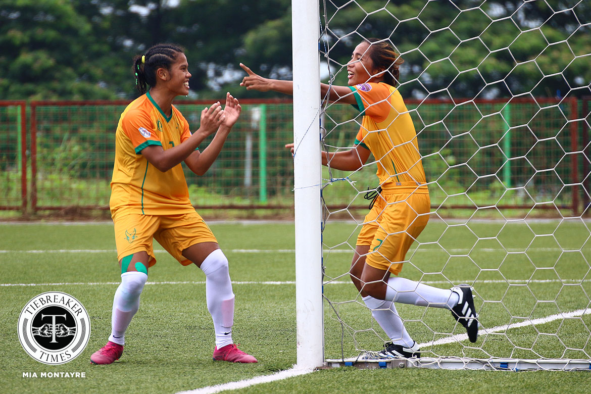 Tiebreaker Times FEU scores season's best as one-sided shutouts rule PFFWL Week 13 DLSU FEU Football News PFF Women's League UP UST  UST Women's Football UP Women's Football Tuloy FC Tigers FC Stallion-Hiraya FC Stacey Arthur Shelah Mae Cadag Philip Dinglasan Nomads FC Nathalie Absalon Mary Joy Indac Maroons FC Marianne Narciso Let Dimzon Lanie Ortillo Lalaine Durano Katrina Magbitang Joyce Onrubia Jennizel Cabalan Jayson Turco Hans-Peter Smit Hannah Faith Pachejo Green Archers United Franco Bambico FEU Women's Football DLSU Women's Football Dionesa Tolentin Carmela Altiche Camille Rodriguez Angelica Teves Alisha Del Campo Aging Rubio 2019 PFFWL Season