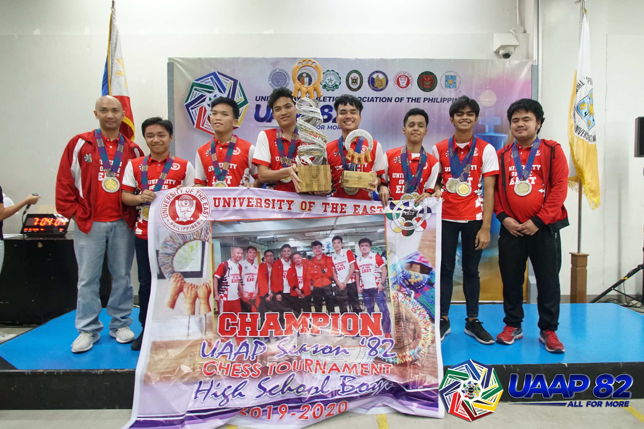 UAAP-82-Boys-Chess-Awarding-8-champion-UE NU overtakes FEU to take UAAP Girls' Chess crown, UE Boys' ends 13-year drought ADMU AdU Chess DLSU FEU News NU UAAP UE UST  - philippine sports news