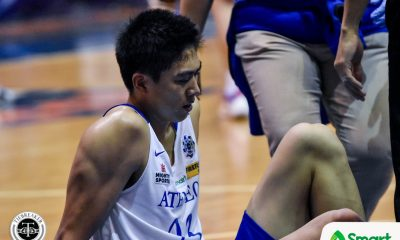 Tiebreaker Times Will Navarro suffers possible concussion after accidental Abanto hit ADMU Basketball News UAAP  William Navarro UAAP Season 82 Men's Basketball UAAP Season 82 Tab Baldwin Ateneo Men's Basketball