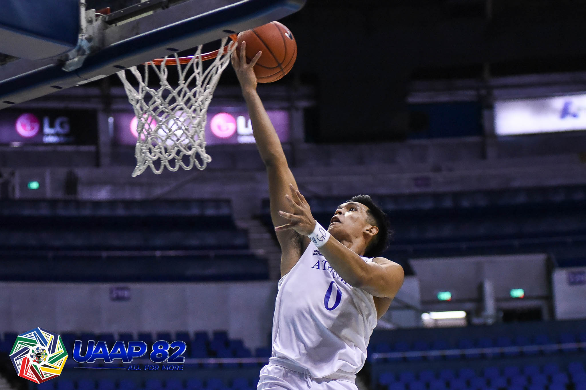 Tiebreaker Times Ateneo Blue Eagles stave off Adamson, remain unbeaten for one year ADMU AdU Basketball News UAAP  William Navarro Valandre Chauca UAAP Season 82 Men's Basketball UAAP Season 82 Thirdy Ravena Tab Baldwin Matthew Daves Matt Nieto Jerrick Ahanmisi Franz Pumaren Ateneo Men's Basketball Adamson Men's Basketball