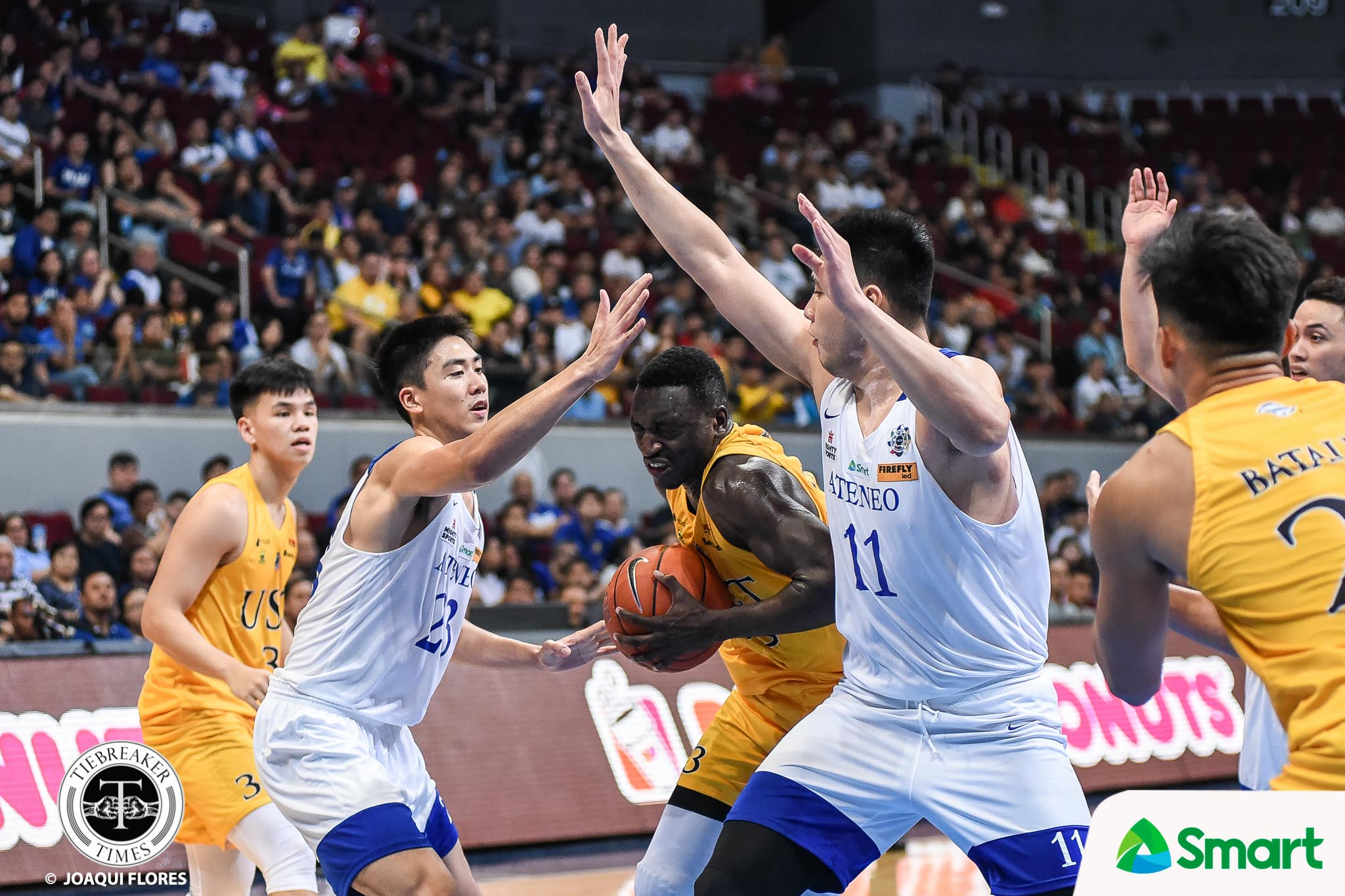 Tiebreaker Times Chabi Yo on Ateneo's defense: 'It's the first time I stayed [almost] scoreless' Basketball News UAAP UST  UST Men's Basketball UAAP Season 82 Men's Basketball UAAP Season 82 Tab Baldwin Soulemane Chabi Yo
