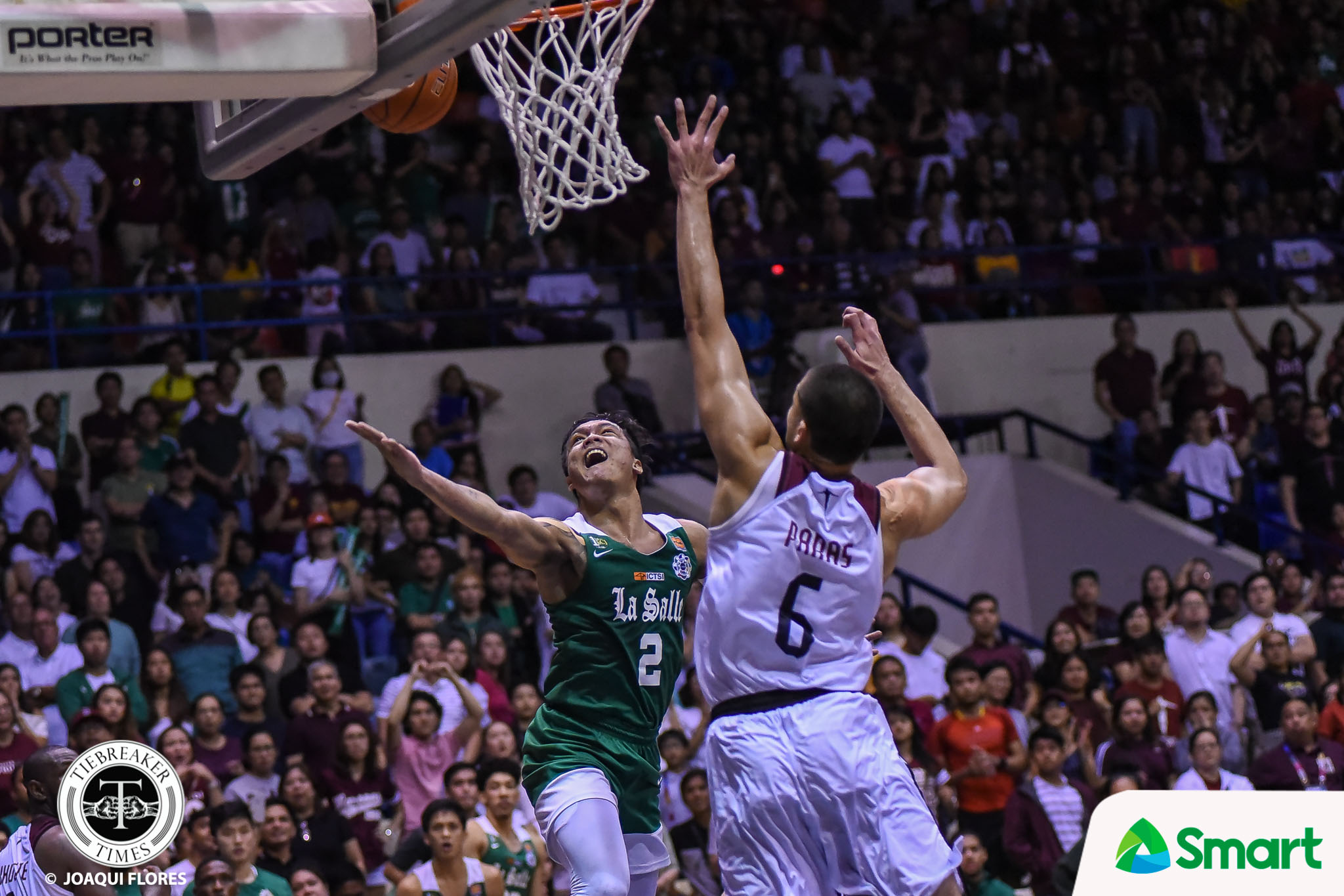 Tiebreaker Times Ailing Encho Serrano charges costly miss to experience Basketball DLSU News UAAP  UAAP Season 82 Men's Basketball UAAP Season 82 Jermaine Byrd Encho Serrano DLSU Men's Basketball