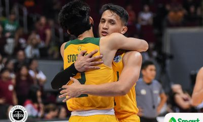 Tiebreaker Times FEU Tamaraws avert collapse, survive UP in OT to create logjam at fourth Basketball FEU News UAAP UP  UP Men's Basketball UAAP Season 82 Men's Basketball UAAP Season 82 Ricky Dandan Patrick Tchuente Olsen Racela L-Jay Gonzales Kobe Paras Kenneth Tuffin FEU Men's Basketball Bright Akhuetie