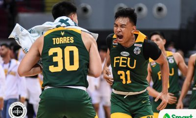 Tiebreaker Times Alforque, Bienes make it rain on UST as FEU bounces back Basketball FEU News UAAP UST  Zachy Huang UST Men's Basketball UAAP Season 82 Men's Basketball UAAP Season 82 Royce Alforque Rhenz Abando Olsen Racela L-Jay Gonzales FEU Men's Basketball Brent Paraiso Brandrey Bienes Aldin Ayo