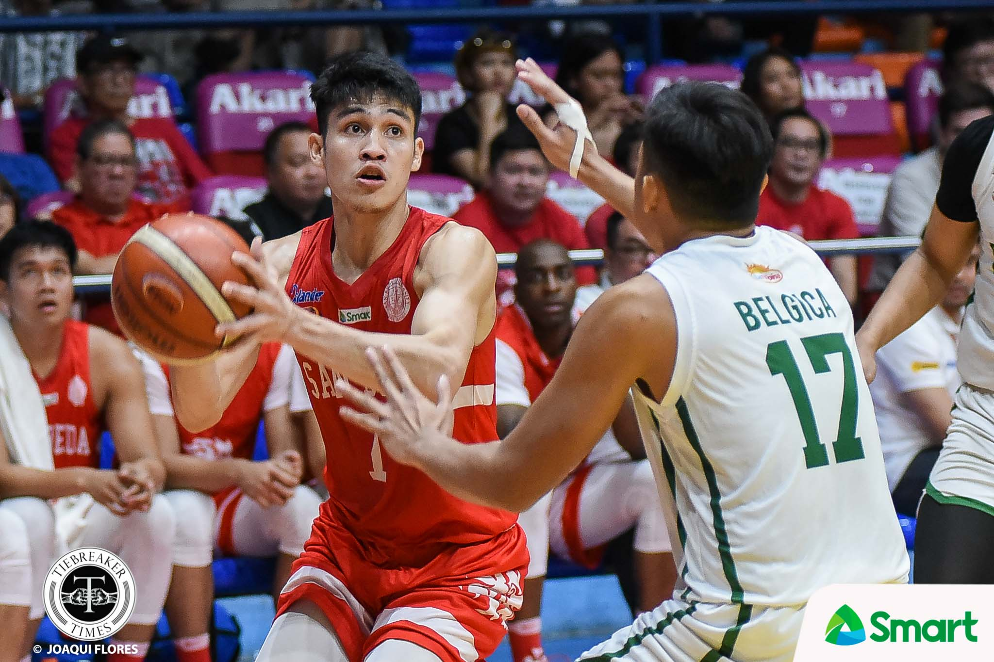 Tiebreaker Times Calvin Oftana leads romp of Benilde as San Beda one away from sweep Basketball CSB NCAA News SBC  TY Tang San Beda Seniors Basketball NCAA Season 95 Seniors Basketball NCAA Season 95 Justin Gutang James Canlas Evan Nelle Donald Tankoua Calvin Oftana Boyet Fernandez