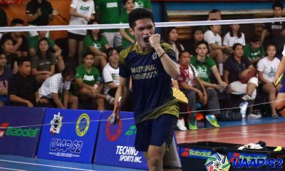Tiebreaker Times Thirdy Bacalso outlasts Bagasbas in decider as NU inches closer to sixth title ADMU Badminton DLSU News NU UAAP UP  UP Men's Badminton UAAP Season 82 Men's Badminton UAAP Season 82 Thirdy Bacalso NU Men's Badminton Keoni Asuncion Keeyan Gabuelo Julius Villabrille JM Bernardo James Villarante Jaime Llanes Harvey Tungul Eljee Pineda DLSU Men's Badminton Ateneo Men's Badminton Arthur Salvado Andrew Pineda