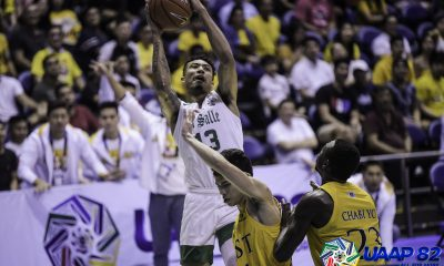 Tiebreaker Times La Salle survives UST in game of inches, keeps Final Four hopes alive Basketball DLSU News UAAP UST  UST Men's Basketball UAAP Season 82 Men's Basketball UAAP Season 82 Soulemane Chabi Yo Rhenz Abando Justine Baltazar Jamie Orme-Malonzo Jamie Orme Gian Nazario DLSU Men's Basketball Brandon Bates Aljun Melecio Aldin Ayo