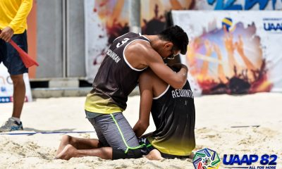 Tiebreaker Times Varga-Requinton sweeps FEU, powers UST to top of UAAP Men's Beach Volleyball Beach Volleyball FEU News UAAP UST  UST Men's Volleyball UAAP Season 82 Men's Beach Volleyball UAAP Season 82 Rancel Varga Jude Garcia Joshua Barrica Jaron Requinton FEU Men's Volleyball