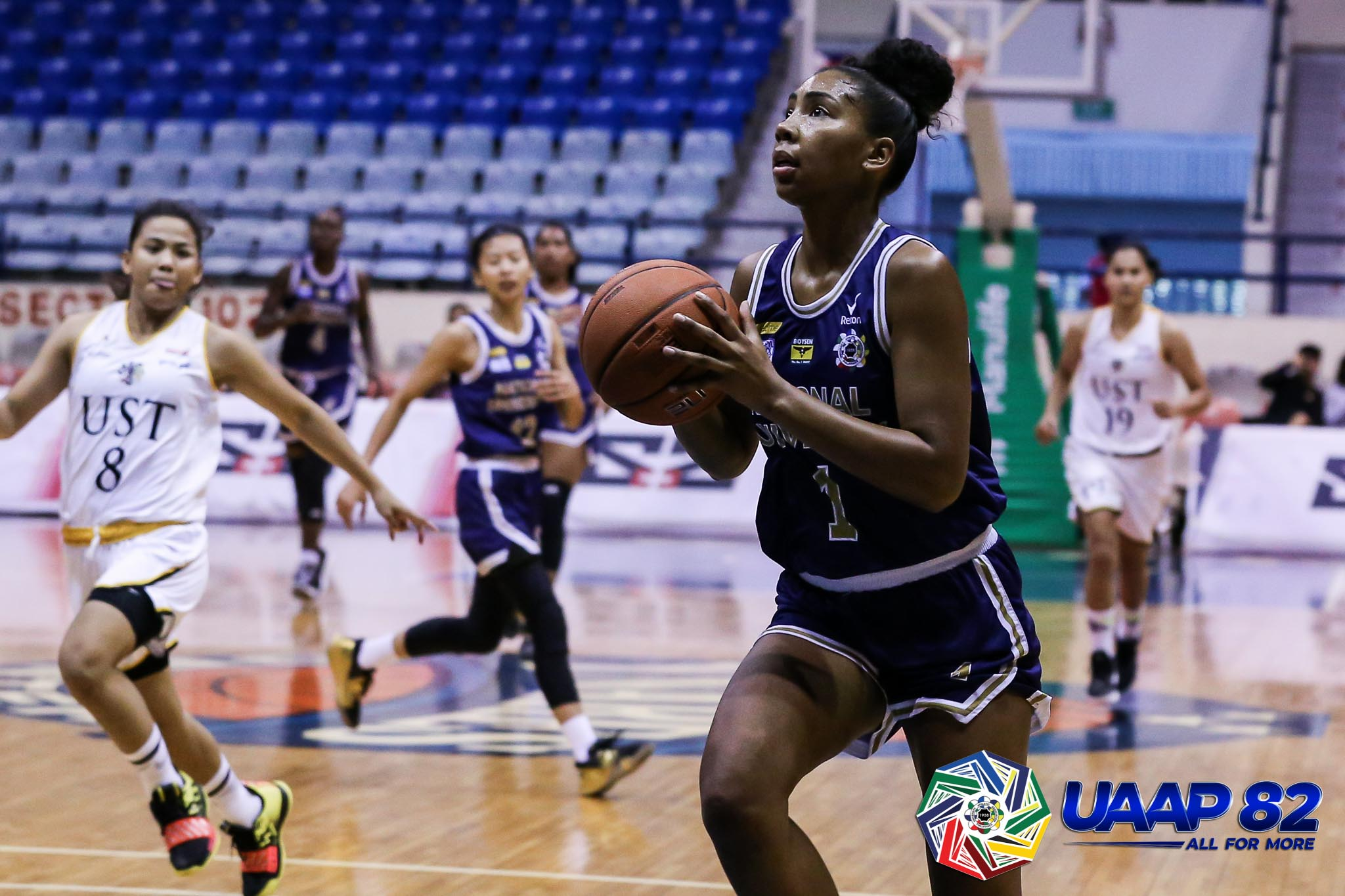 Tiebreaker Times Hayes steps up as NU Lady Bulldogs escape UST for win no. 91 Basketball News NU UAAP UST  UST Women's Basketball UAAP Season 82 Women's Basketball UAAP Season 82 Shen Callangan Rhena Itesi Patrick Aquino NU Women's Basketball Kelli Hayes Jack Animam Haydee Ong abi portillo