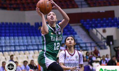 Tiebreaker Times La Salle zooms past UP, keep playoff hopes alive Basketball DLSU News UAAP UP  UP Women's Basketball UAAP Season 82 Women's Basketball UAAP Season 82 Rei Sanchez Pesky Pesquera Paul Ramos Maureen Okoli Lee Sario Kent Pastrana DLSU Women's Basketball Cholo Villanueva Charmaine Torres