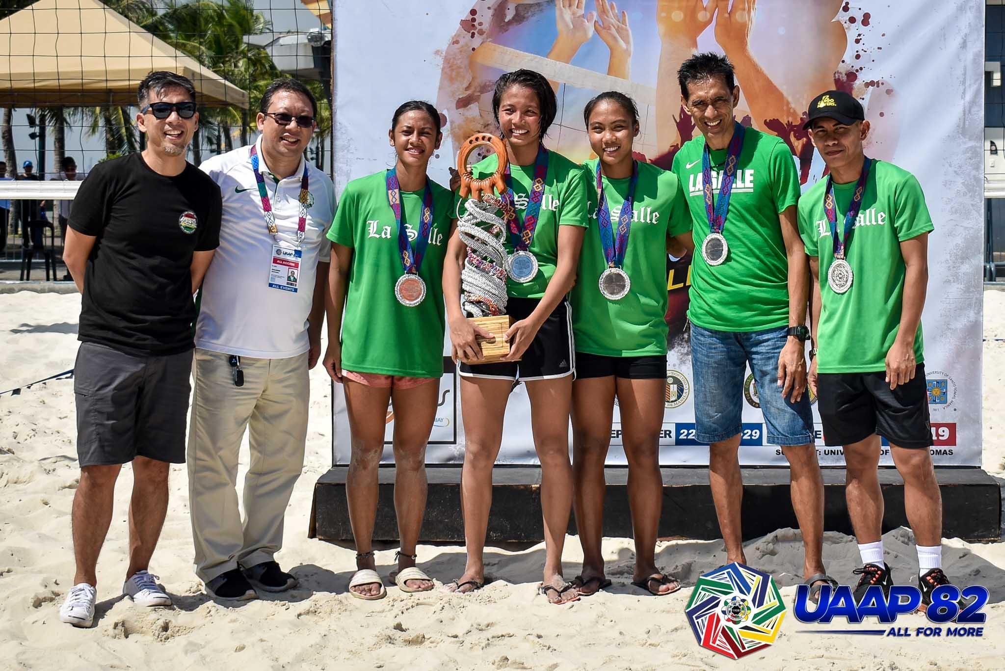 Tiebreaker Times Tin Tiamzon dedicates Beach Volleyball silver to ailing mom Beach Volleyball DLSU News UAAP  UAAP Season 82 Women's Beach Volleyball UAAP Season 82 Tin Tiamzon DLSU Women's Volleyball