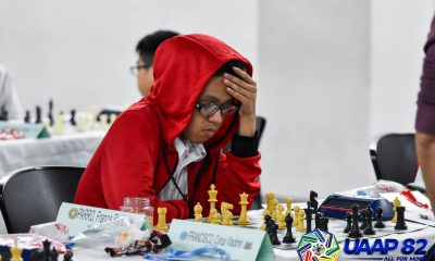 Tiebreaker Times Runaway UE train slows down with draw, but stays on top AdU Chess DLSU FEU News NU UAAP UE UP  UST Boys Chess UE Boys Chess UAAP Season 82 Boys Chess UAAP Season 82 NU Boys Chess Noel Geronimo Mark Gerald Reyes Lee Roi Palma John Kenneth Gelva Francis Roi Parro FEU Boys Chess DLSU Boys Chess Dennis Gutierrez Chester Neil Reyes Alekhine Nouri Adamson Boys Chess