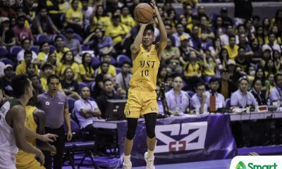 Tiebreaker Times Downcast Rhenz Abando keeps mum after heartbreak Basketball News UAAP UST  UST Men's Basketball UAAP Season 82 Men's Basketball UAAP Season 82 Rhenz Abando Aljun Melecio Aldin Ayo