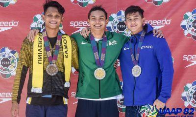 Tiebreaker Times Sacho Ilustre makes early case for MVP as La Salle ends Day 1 on top ADMU DLSU News Swimming UAAP UE UP UST  UST Men's Swimming UP Men's Swimming UE Men's Swimming UAAP Season 82 Men's Swimming UAAP Season 82 Sacho Ilustre Russel Latorre McTracy Alindogan Juan Abad Jexter Chua Ianiko Limfilipino Gummy Torres DLSU Men's Swimming Christian Anor Ateneo Men's Swimming Angelo Dela Cruz Alfonso Bautista