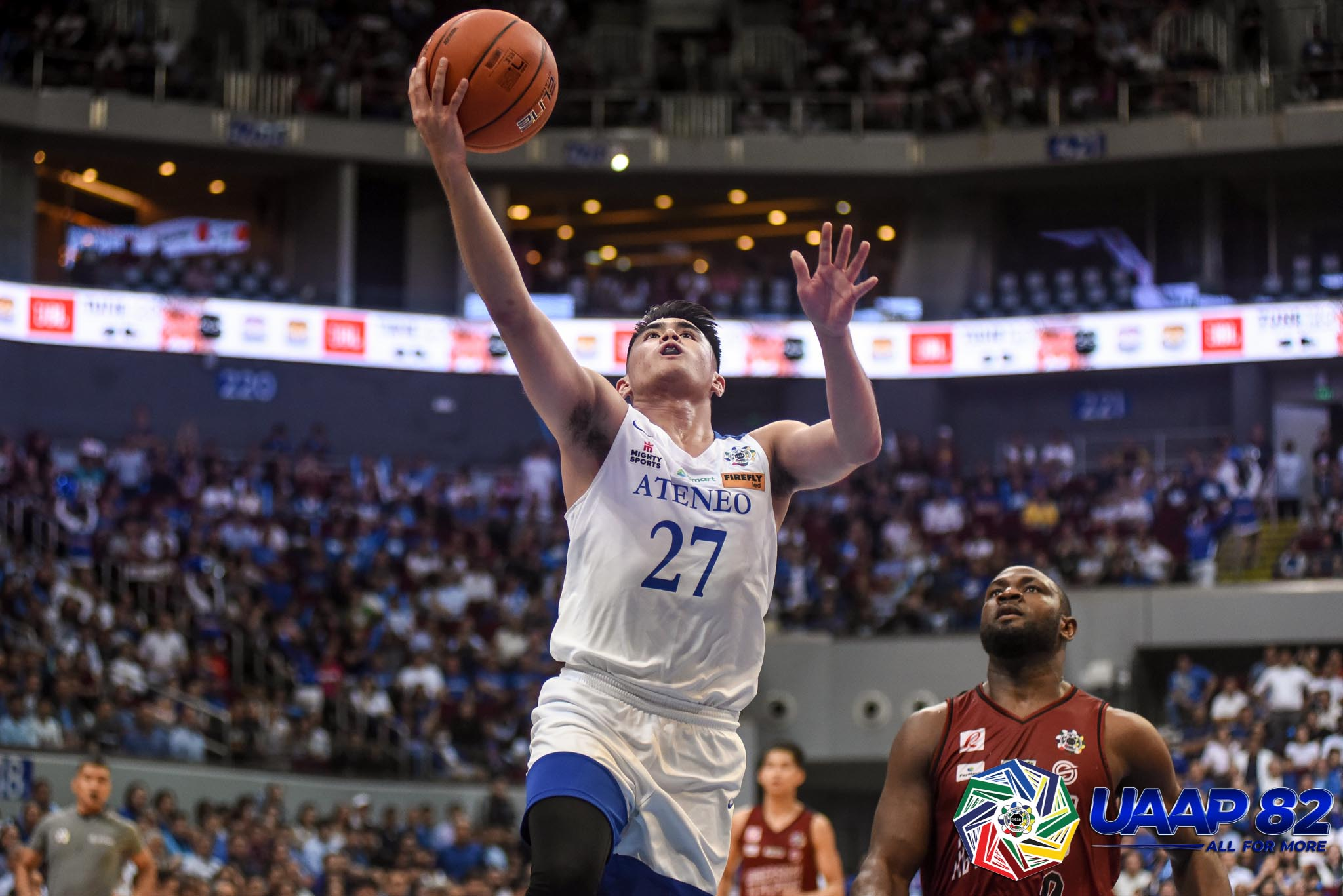 Tiebreaker Times Ateneo Blue Eagles overwhelm UP, complete sweep to book Finals trip ADMU Basketball News UAAP UP  UP Men's Basketball UAAP Season 82 Men's Basketball UAAP Season 82 Tab Baldwin SJ Belangel Bo Perasol Ateneo Men's Basketball Angelo Kouame