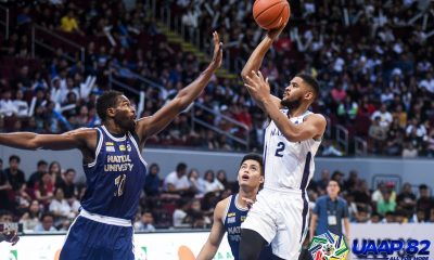 Tiebreaker Times Jerrick Ahanmisi regains form as Adamson snaps skid at NU's expense AdU Basketball News NU UAAP  UAAP Season 82 Men's Basketball UAAP Season 82 Simon Camacho NU Men's Basketball Lenda Douanga Jerrick Ahanmisi Jerom Lastimosa Jamike Jarin Issa Gaye Franz Pumaren Dave Ildefonso AP Manlapaz Adamson Men's Basketball